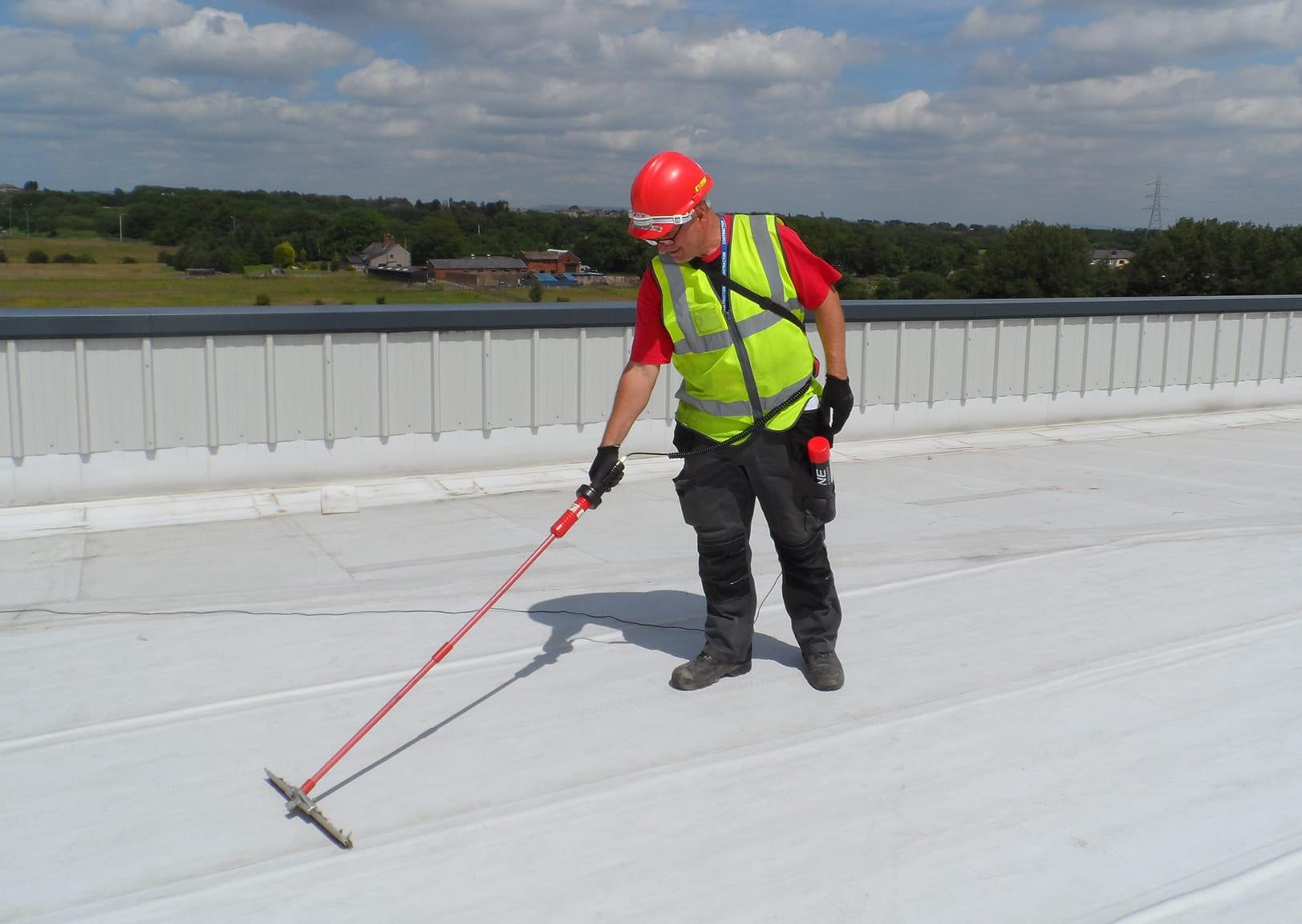 Flat Roof Survey Leak Detection Survey Dry Test